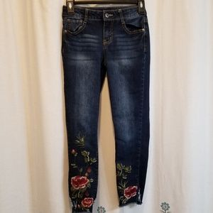 Other - Embroidered jeggings skinny floral